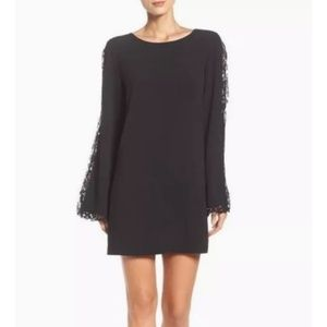 Felicity & Coco Lace Trim Bell Sleeve Shift Dress